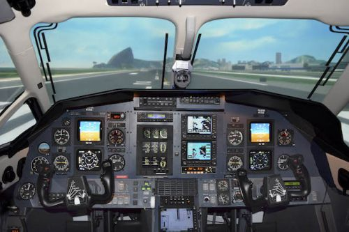 FlightSafety-PC-12-47-Level-D-simulator-interior
